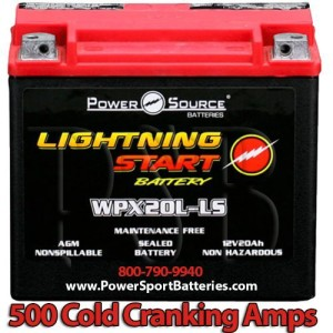 Harley FLST Heritage Softail 500cca Lightning Start 20ah High Performance Sealed AGM Motorcycle Battery Replacement For Year 1991 1992 1993 1994 1995